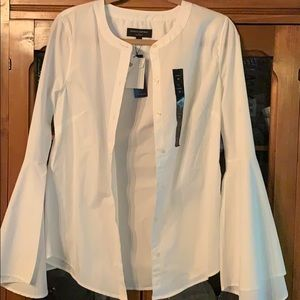 NWT Banana Republic white tailored fit bell sleeve